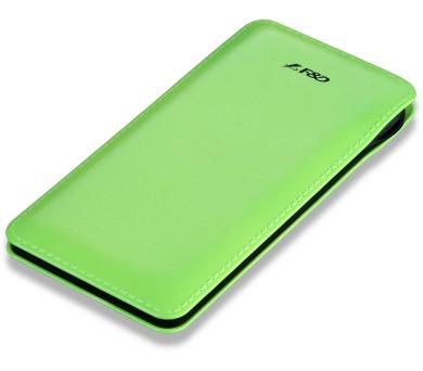 FENDA F&D Power bank Slice T2/ 8000 mAh/ zelená/ design kůže