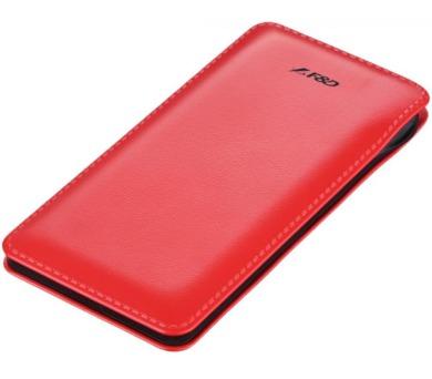 FENDA F&D Power bank Slice T2/ 8000 mAh/ červená/ design kůže