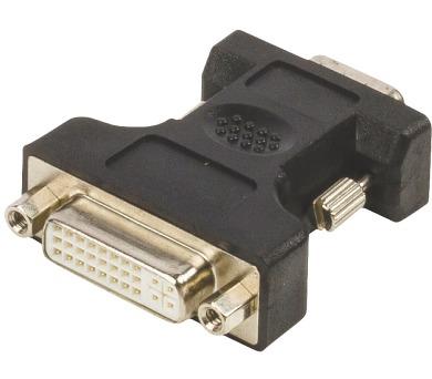VALUELINE adaptér VGA - DVI/ zástrčka VGA - 24+5pinová zásuvka DVI-I/ černý