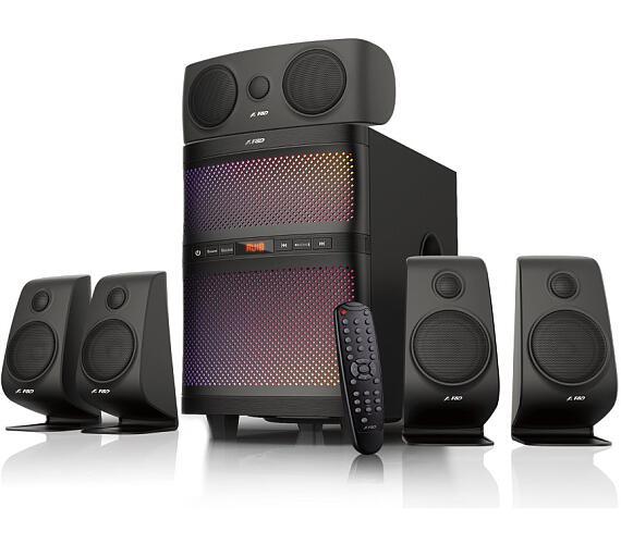 FENDA F&D repro F5060X/ 5.1/ 135W/ černé/ BT4.0/ FM rádio/ USB/SD přehrávání/ dálkové ovlá