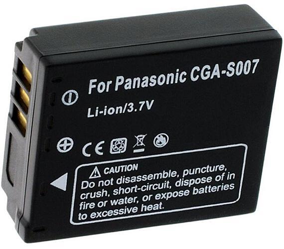 TRX baterie Panasonic/ 1000 mAh/ pro CGA S007E/ DMW-BCD10/ CGR-S007/ DMWBCD10/ CGA-S007A/1B/ CGA-S00
