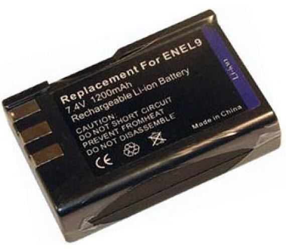 TRX baterie Nikon/ 1200 mAh/ pro D40 DSLR/ D40X DSLR/ D60 DSLR/ neoriginální (TRX-EN-EL9)