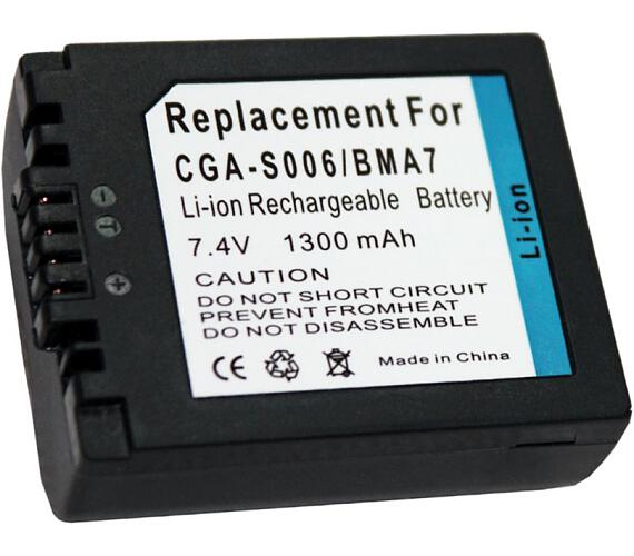 TRX baterie Panasonic/ 1300 mAh/ CGA-S006E/ CGR-S006/ DMW-BMA7/ DMWBMA7/ CGR-S006E/ CGA-S006A/ CGR-S006A/ neoriginální (TRX-CGA-S006