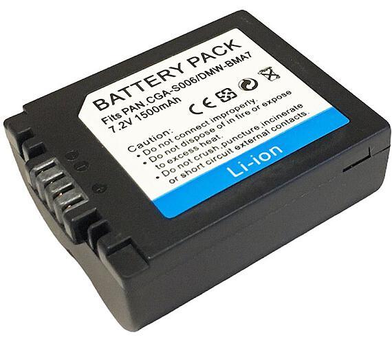 TRX baterie Panasonic/ 1300 mAh/ CGA-S006E/ CGR-S006/ DMW-BMA7/ DMWBMA7/ CGR-S006E/ CGA-S006A/ CGR-S006A/ neoriginální
