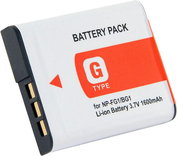 TRX baterie Sony/ 1200 mAh/ Cyber-shot DSC-H10/ H20 /N1/ N2/ T100/ T20/ W80/ W100/ W130/ W150/ neoriginální (TRX-NP-BG1)