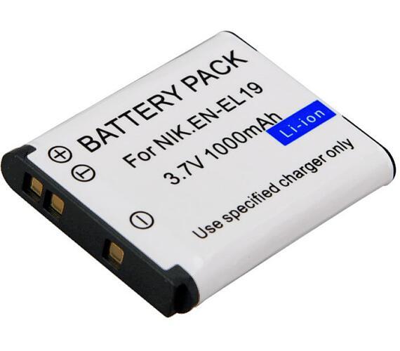 TRX baterie Nikon/ 1000 mAh/ pro Coolpix S32/ S100/ S2500/ S2550/ S2600/ S2700/ S2750/ S3100/ S3200/ S3300/ neoriginální