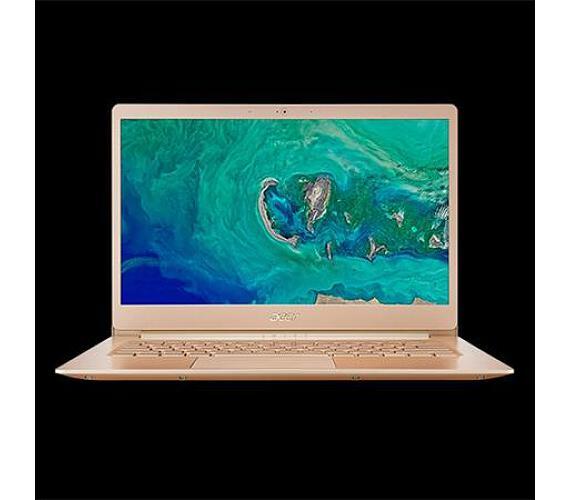 "Acer Swift 5 (SF514-52T-81VF) Core i7-8550U/16GB+n/a/512GB+N(M.2)/14"" FHD IPS Multi-touch LCD/HD Graphics/W10 Home/Gold,,970g (NX.GU4"