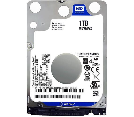 """WD HDD BLUE 1TB / WD10SPZX / SATA 6Gb/s / Interní 2,5"""" / 5400rpm / 128MB"""