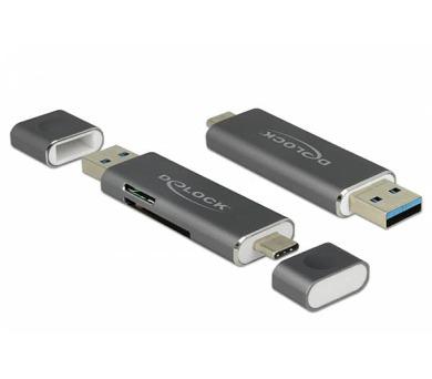 Delock Čtečka karet USB Type-C™ / USB 3.1 Gen 1 Type-A > SD / MMC + Micro SD (91499)