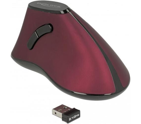 Delock Ergonomická vertikální optická 5-tlačítková myš 2.4 GHz bezdrátová (12528)