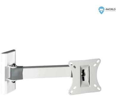 """4W Držák LCD 10-32"""" rame.23cm otočný sklopný 25kg (07469-WHT)"""
