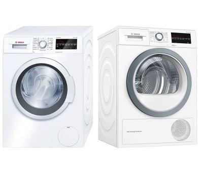 SET Pračka Bosch WAT28460BY + Sušička Bosch WTW85480CS kondenzační