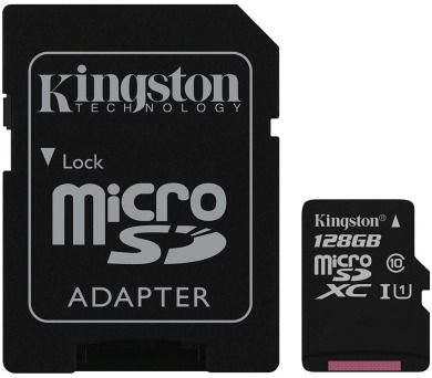 KINGSTON Canvas Select 128GB microSDXC / UHS-I / CL10 / vč. adaptéru (SDCS/128GB)