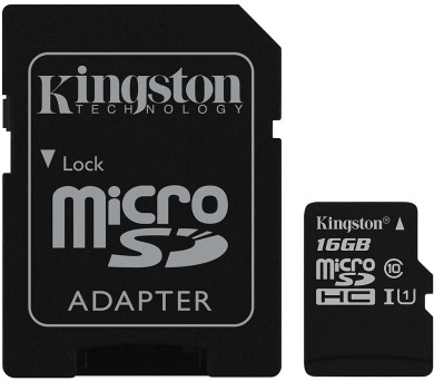 KINGSTON Canvas Select 16GB microSDHC / UHS-I / CL10 / vč. adaptéru (SDCS/16GB)
