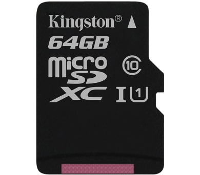 KINGSTON Canvas Select 64GB microSDXC / UHS-I / CL10 / bez adaptéru (SDCS/64GBSP)