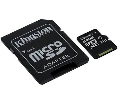 KINGSTON 64GB microSDXC CANVAS Memory Card 80MB/10MBs- UHS-I class 10 Gen 2 (SDCS/64GB)