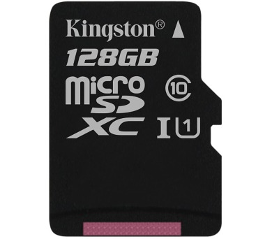 KINGSTON Canvas Select 128GB microSDXC / UHS-I / CL10 / bez adaptéru (SDCS/128GBSP)