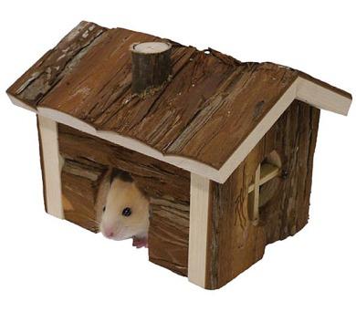 Domek dřevo křeček Srub RW 16 x 13 x 12 cm