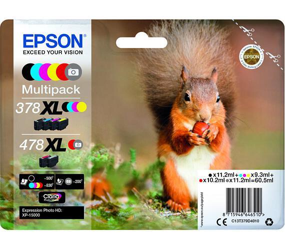 Epson Multipack 6 colours 478XL Claria Photo HD (C13T379D4010) + DOPRAVA ZDARMA