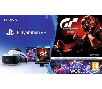 SONY PS4 PlayStation VR V2 + Eye Camera V2 + Gran Turismo Sport + VR Worlds (PS719979661)