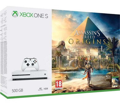 XBOX ONE S - 500GB + Assassin's Creed: Origins