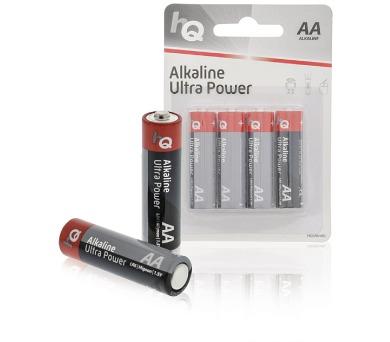 HQ alkalická baterie 1,5V/ AA/ LR6/ blistr 4ks