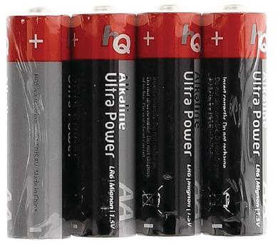 HQ alkalická baterie 1,5V/ AA/ LR6/ fólie 4ks