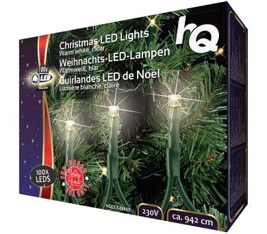 HQ vánoční osvětlení/ 100x LED dioda/ 2,1W/ 9,42 m / teplá bílá/ interiér