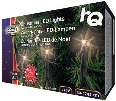 HQ vánoční osvětlení/ 200x LED dioda/ 4W/ 17,42 m/ teplá bílá Interiér (HQCLS48663) + DOPRAVA ZDARMA