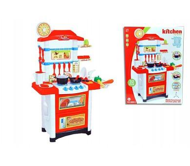 Kuchyňka plast 87cm na baterie se zvukem se světlem 32ks 59x87x29cm v krabici + DOPRAVA ZDARMA