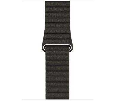 Watch Acc/42/Charcoal Gray Leather Loop - L