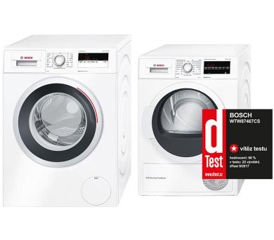 SET Pračka Bosch WAN28160CS + Sušička Bosch WTW87467CS kondenzační