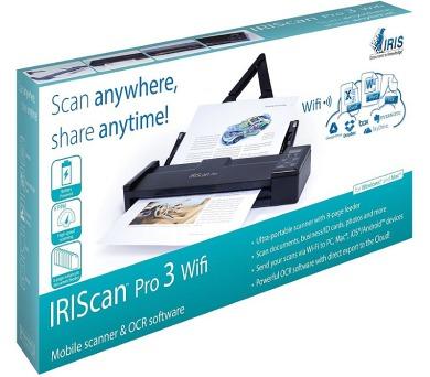 IRIS skener IRISCAN Pro 3 WIFI/ bezdrátový přenos dat/ přenosný skener (458071) + DOPRAVA ZDARMA