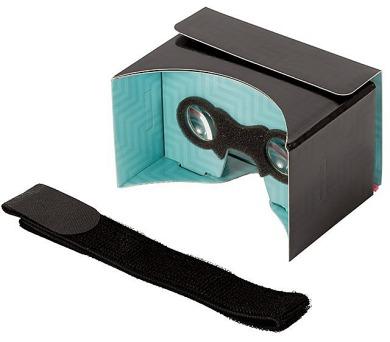 """PANOBOARD Click Boost VR brýle pro virtuální realitu pro telefony od 4"""" do 5,6"""" / černo-tyrkysové"""