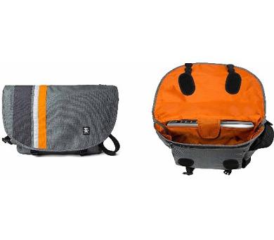 Crumpler Dinky Di Messenger M - dk. mouse grey/pumpkin orange + DOPRAVA ZDARMA