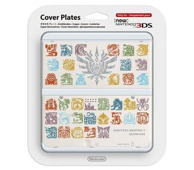 Nintendo New 3DS Cover Plate - Monster Hunter 4 (White) (NI3P110181)