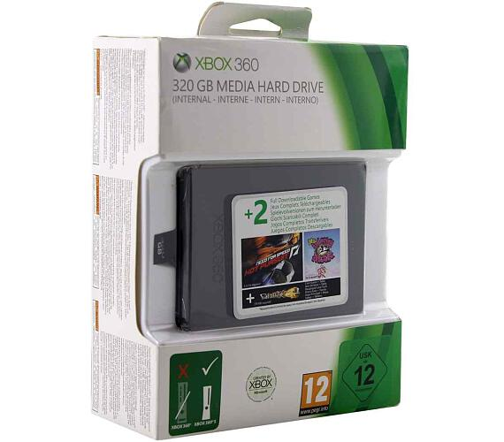 XBOX 360 Hard Drive 320GB SLIM + NFS: Hot Pursuit + Ms.Splosion Man