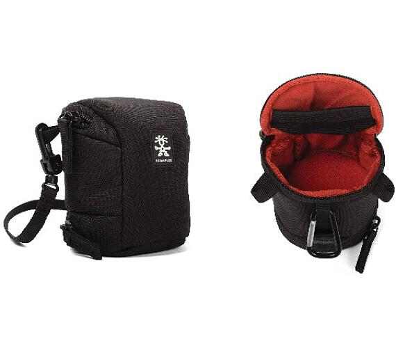 Crumpler Base Layer Lens Case S - black/rust red (BLLC-S-001) + DOPRAVA ZDARMA
