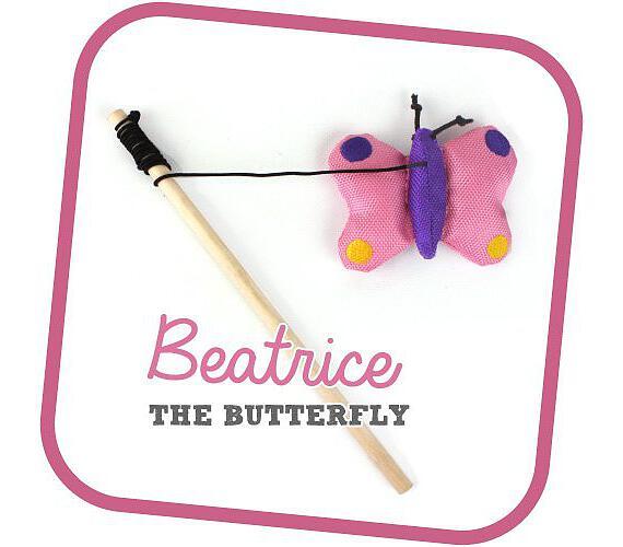 Beco Cat Nip hůlka - Motýl Beatrice BeCoThings