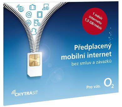 O2 SIM internet 1 měsíc 1,5GB