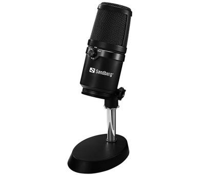Sandberg studiový mikrofon černý + DOPRAVA ZDARMA