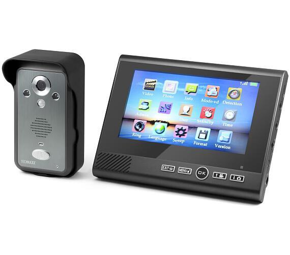 """Technaxx bezdrátový video zvonek s kamerou včetně LCD monitoru 7"""" (TX-59) (4571) + DOPRAVA ZDARMA"""