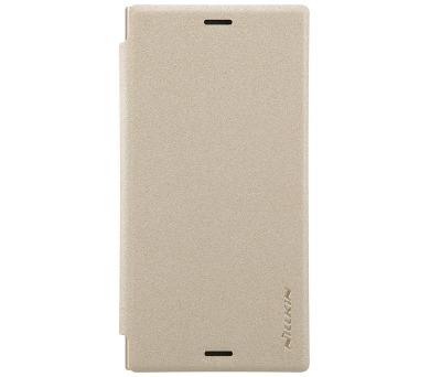 Nillkin Sparkle Folio Pouzdro Gold pro Sony G8441 Xperia XZ1 Compact