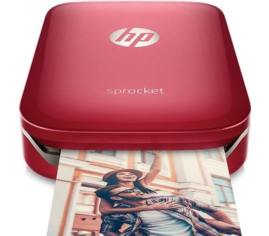 HP Sprocket Photo Printer - Red (5x7,6 cm