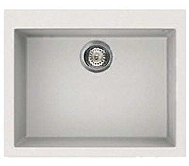 ELLECI QUADRA 110 Bianco titano/Granitek jednodřez + DOPRAVA ZDARMA