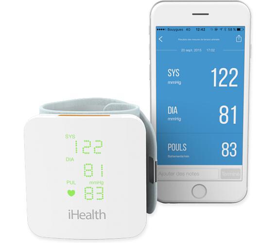 iHealth VIEW chytrý zápěstní měřič krevního tlaku (IH-BP7s)