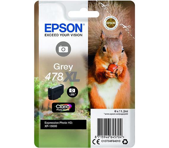 Epson Singlepack Grey 478XL Claria Photo HD Ink (C13T04F64010) + DOPRAVA ZDARMA