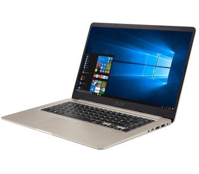 """ASUS S510UN-BQ070T Core i5-8250U/8GB/1TB 5400ot+128GB SSD SATA3/GeForce MX150 2GB/15,6"""" 1920x1080 FHD/Matný//BT/W10 Home/Gold + DOPRAVA ZDARMA"""