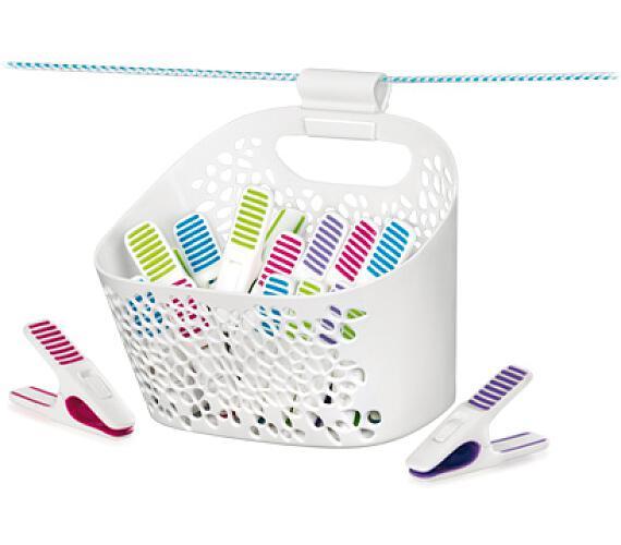 Kolíčky na prádlo v košíku CLEAN KIT