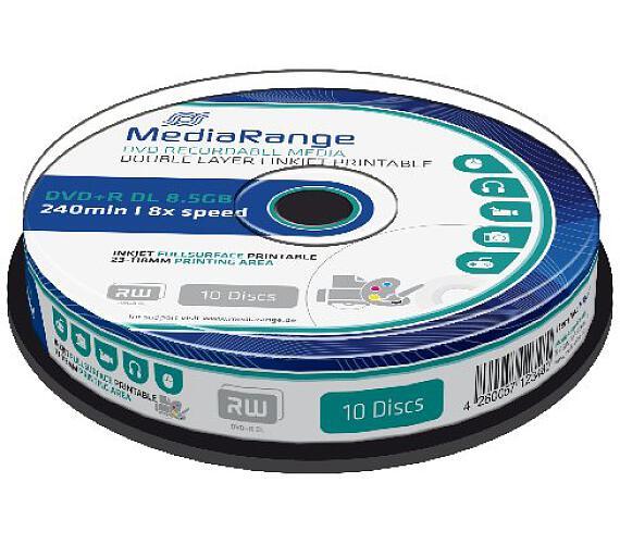 MEDIARANGE DVD+R 8,5GB 8x DoubleLayer PRINTABLE Cake 10 (MR468)